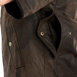 swanndri 3/4 sleeve rear pocket